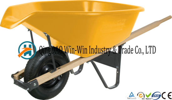 6 Cubic Foot Poly Wheelbarrow with Pour Spout