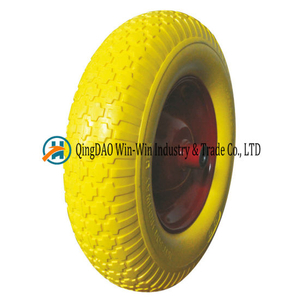 Inflation Free PU Wheel for Construction Hand Truck (4.00-8)