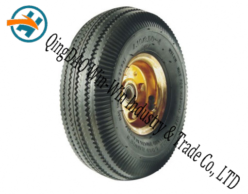 "Pneumatic Rubber Wheel for Wheel Barrow (10""X3.50-4)"