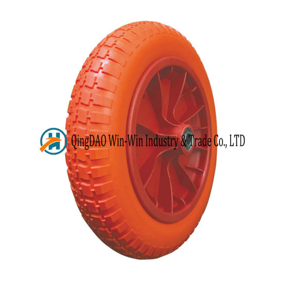 Flat Free PU Foam Wheel with Spoke Color (3.00-8)