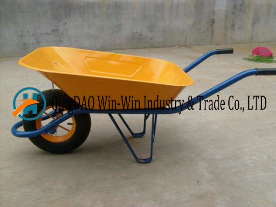 Hand Yard Wheelbarrows Wb6400 Rubber Wheel
