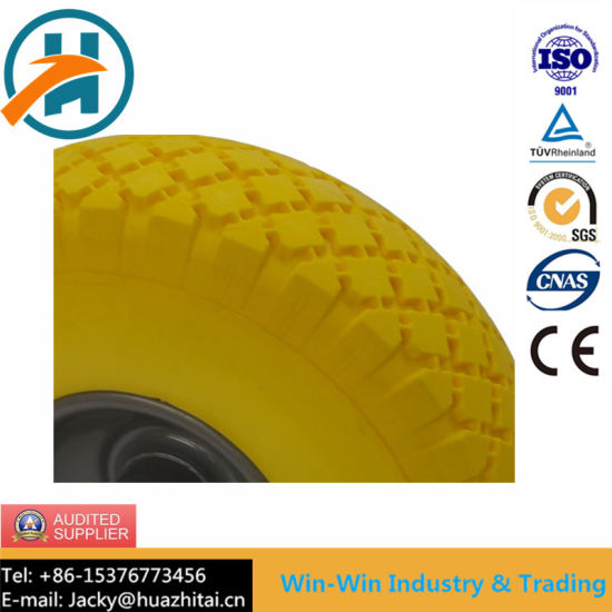 Flat Free PU Wheel for Hand Truck Tyre (3.00-4/300-4)